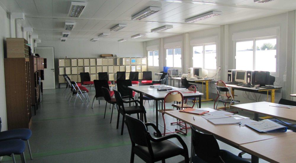 salle des classes modulaires