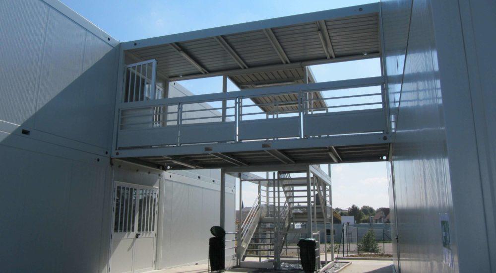 passerelle construction modulaire
