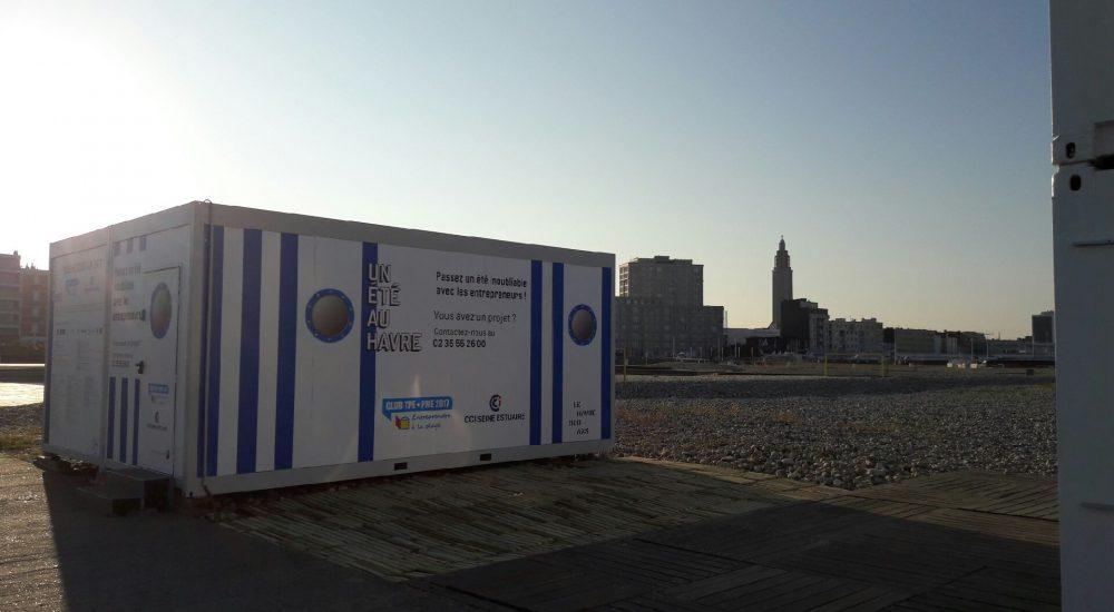 La cabane modulaire CLUB TPE/PME - CCI Seine Estuaire